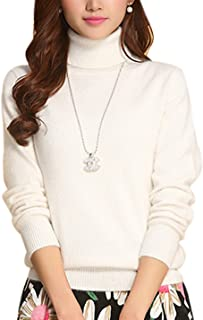 Women's Slim Fashion Turtleneck Long Sleeve Pullover Knit Sweaters