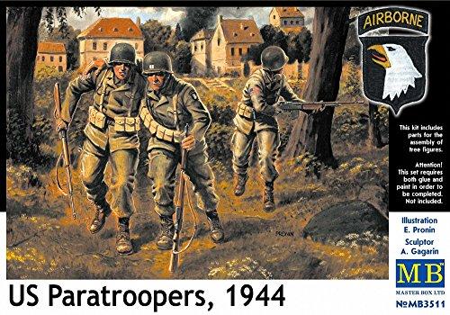 Masterbox Echelle 1 : 35 cm US Paratroops 4 937,8 cm Kit de Construction (Gris)