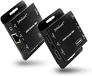 Zettaguard 164-Feet HDMI Extender Over Single CAT5/CAT6 Ethernet Cable with IR Control, 1080P & 3D Support with Vibrant