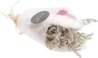 Fdit Plantes de Fleurs séchées Naturelles Petits Bouquets pour Les Arrangements de Mariage décoration de Bricolage(Blanc)