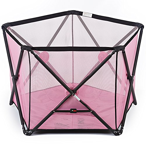 Dream On Me Olivia Ready-to-Go Playard, Pink