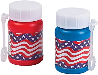 Fun Express - Mini Patriotic Bubble Bottles (2dz) for Fourth of July - Toys - Bubbles - Mini Bubble Bottles - 1oz - Fourth of July - 24 Pieces