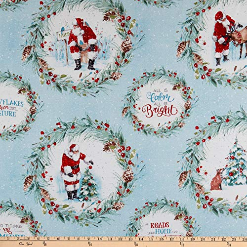 Wilmington A Magical Christmas Wreaths Multi Quilt Fabric By The Yard