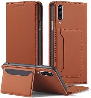 Suhctup Compatible con Samsung Galaxy Note 8 Funda de Cuero Ultra Fina Premium PU Flip Magnético Cartera Caso con [Ranuras para Tarjetas] [Soporte] con Carcasa Interna de TPU-Marrón