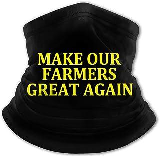 Make Our Farmers Great Again - Pasamontañas para el cuello con protección UV, resistente al viento, multifunción, para niñ...