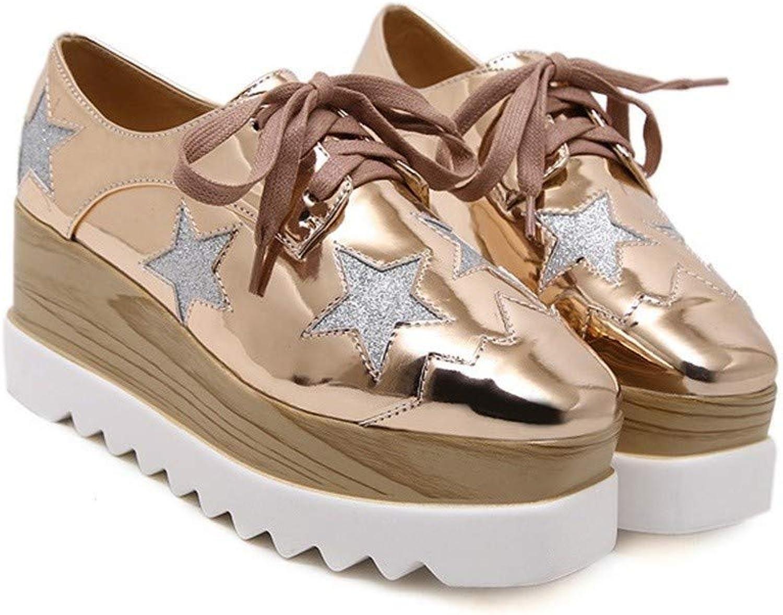 QIYUN.Z Women Fashion Daily Star Pattern Wedges Platform shoes Heels