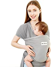 Acrabros Baby Wrap Carrier,Hands Free Baby Carrier Sling,Lightweight,Breathable,Softness,Perfect for Newborn Infants and Babies Shower Gift,Grey