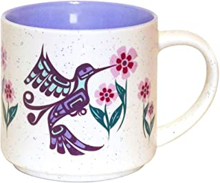 """Native Northwest""""Humming Bird"""" Coffee Mug 16 oz - First Nations Ceramic Cup by Francis Dick"""
