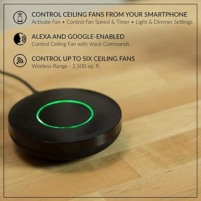Amazon Com Kensgrove 64 In Led White Ceiling Fan Works With Google Assistant And Alexa Kitchen Dining
