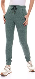 Elastic Waist & Down Hem Heather Olive Sweatpants (Drawstring Color And Shape May Be