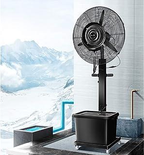 Ventilador de fábrica Ventilador Ventilador industrial Silencioso Ventilador eléctrico grande Ventilador de aire frío móvil Vibración Refrigeración Humidificador de piso con rueda / Tanque de agua