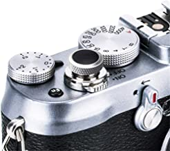 JJC Compatible Soft Shutter Release Button Cap for Fuji Fujifilm X-T30 XT30 X-T3 XT3 X100F X-Pro2 X-Pro1 X-T2 X-E3 X-E2S X-T20 X-T10 X100T X100S for Sony RX10 IV III II , RX1RII RX1R RX1 / GR Black