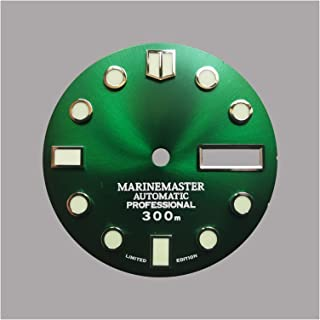 Pattern Gradient Green For Dial Ghost Surface Original Yacht NH35 SKX007 7S26 6R 4R Dial 28.5m (Color : Green day date, Si...