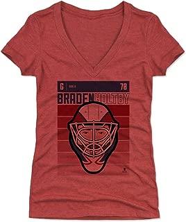 500 LEVEL Braden Holtby Women's Shirt - Washington Hockey Shirt for Women - Braden Holtby Fade