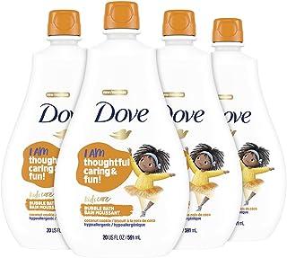 Dove Bubble Bath For Kids Coconut Cookie Hypoallergenic formula 20 oz 4 Count