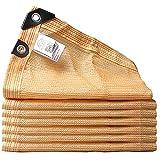 WWWANG Beige Peated Shade Netting con una Cuerda de 10 m, jardín antienvejecimiento Vela/Pantalla de privacidad for Patio Patio de pérgola y balcón, 90% de protección UV y Resistente al Polvo Protec
