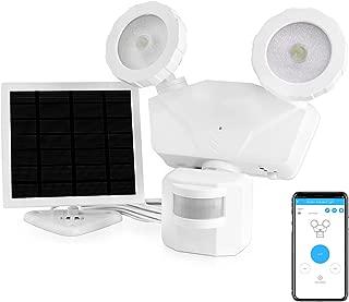 Novolink Solar Lights Outdoor, 500LM Wireless Control LED Motion Sensor Security Light, 5500K Motion Light with IP65 Waterproof, Super Bright Adjustable 2-Head Flood Light for Garage, Yard, Pathway