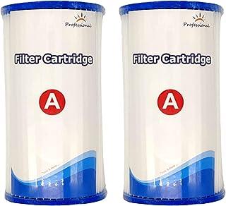 KKmoon® - Filtro de piscina, filtro de piscina, cartucho filtrante para bomba de piscina, se puede limpiar varias veces, tipo A/C