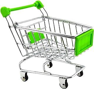 MagiDeal Imitation Games Mini Shopping Cart Carro Verde Color