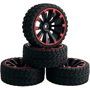 powerday Rubber Tires Rally Tyre Racing On Road Wheel 12mm Hex for HSP HPI RC 1:10 Car