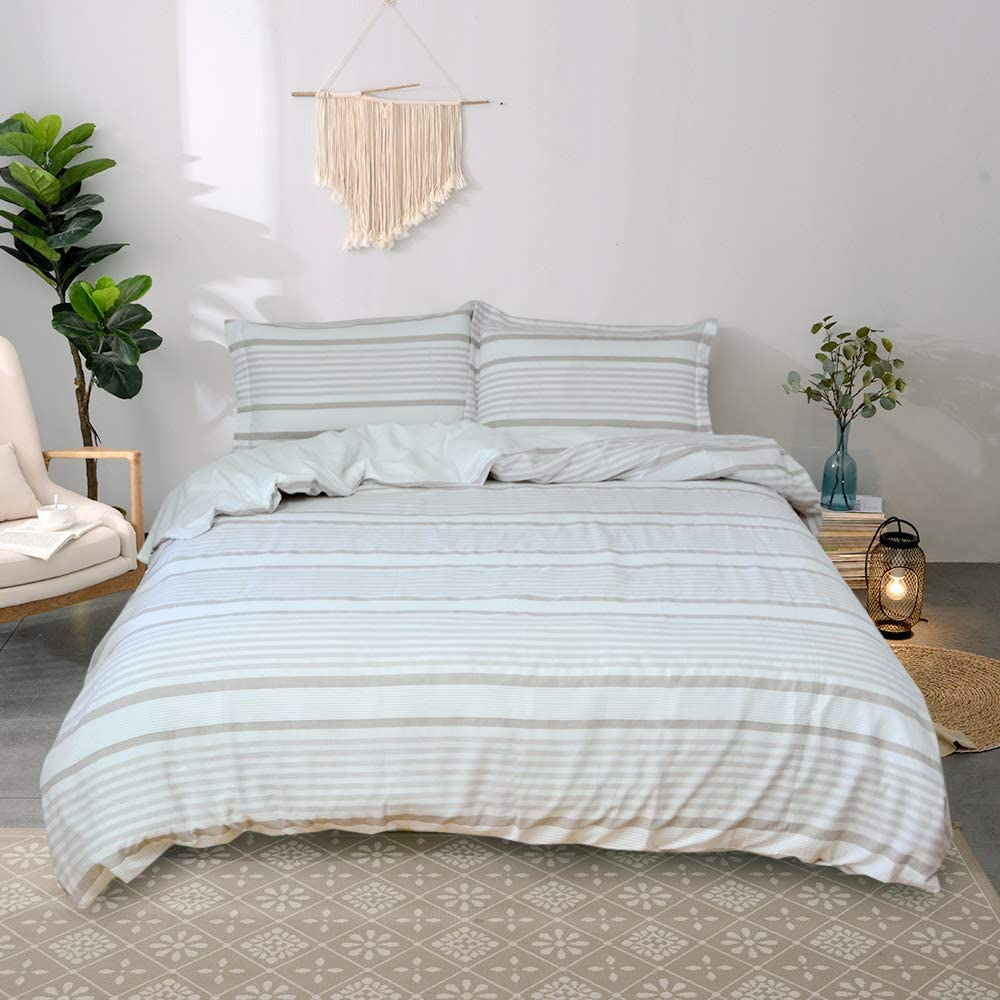 Merryfeel Portland Mall Cotton Duvet Cover Set 100% Size Dye Twin Yarn Outlet sale feature