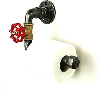 Dérouleur porte papier toilette vanne industriel en tuyaux de plomberie