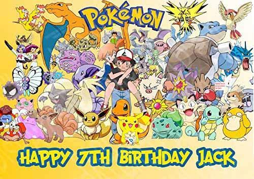 Pokémon Pikachu A4papier de sucre glace gâteau d'anniversaire d'image 4
