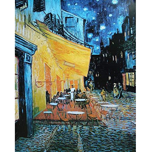 Fumoi Puzzle de 1000 Piezas para Adultos: Terraza del Café de Noche por Vincent Van Gogh Rompecabezas de 1000 Piezas para Adultos Rompecabezas de Piso