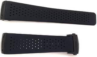 Correas de reloj en plástico negro (22/20 mm)