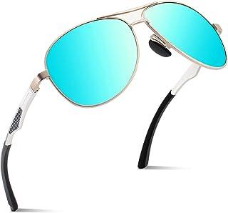1809890462 CGID GA61 Prima de aleación Al-Mg Pilot gafas de sol polarizadas UV400,  bisagras