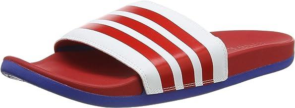 adidas adilette cloudfoam plus stripes men's slides