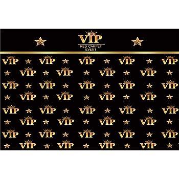 YongFoto 3x2,5m Vinile fondali fotografici Sfondo VIP Red Carpet Event Crown Stars Foto nera Sfondo foto Studio fotografico video Fondale foto Decorazione del Partito Accessori