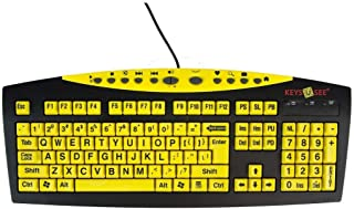 Keys-U-See Large Print USB Wired Computer Keyboard (Yellow Keys with Black Letters) Great for Visually Impaired Individual...