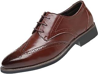 Zapatillas de Hombre de BaZhaHei, Zapatillas Oxford de cuero de primera calidad para hombres Oxfords Zapatos de negocios Zapatos de boda Zapatos de vestir de negocios para hombres pies zapatos de boda