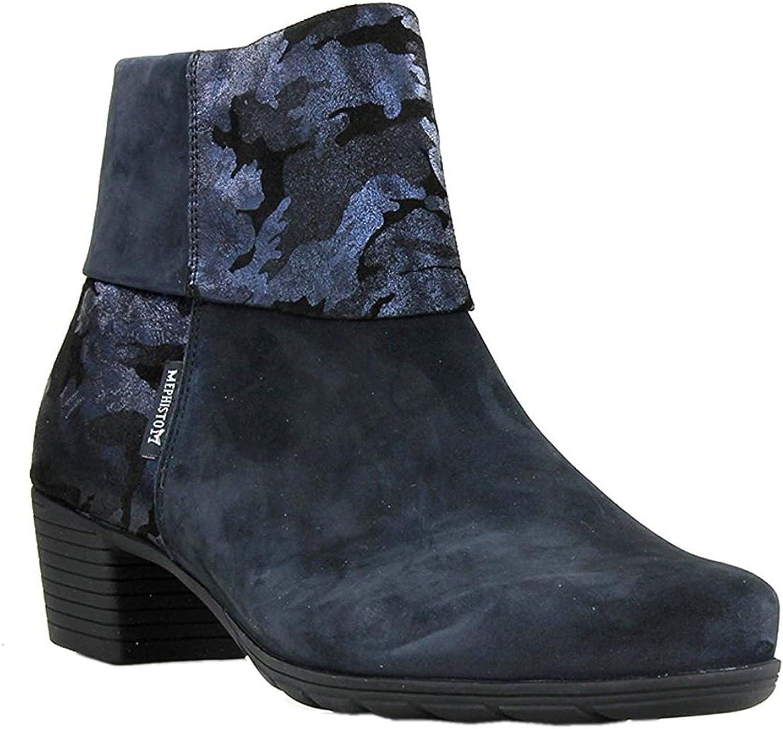 Mephisto Womens Iris bluee Nubuck Boots 9 US