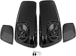 XFMT Saddlebag Lids W/5×7 Inch Speakers Compatible with Harley Davidson Touring models FLT, FLHT, FLHTCU, FLHRC, Road King, Road Glide, Street Glide, Electra Glide, Ultra-Classic 2014-2018