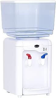 MAXELLPOWER DISPENSADOR DE Agua LIQUIDOS 7 litros con 2 GRIFOS Grifo Frio Y del Tiempo 7L (Blanco)