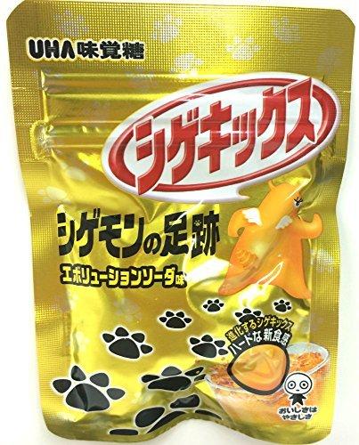 UHA味覚糖 シゲキックス シゲモンの足跡エボリューションソーダ 20g×10袋 ×2セット