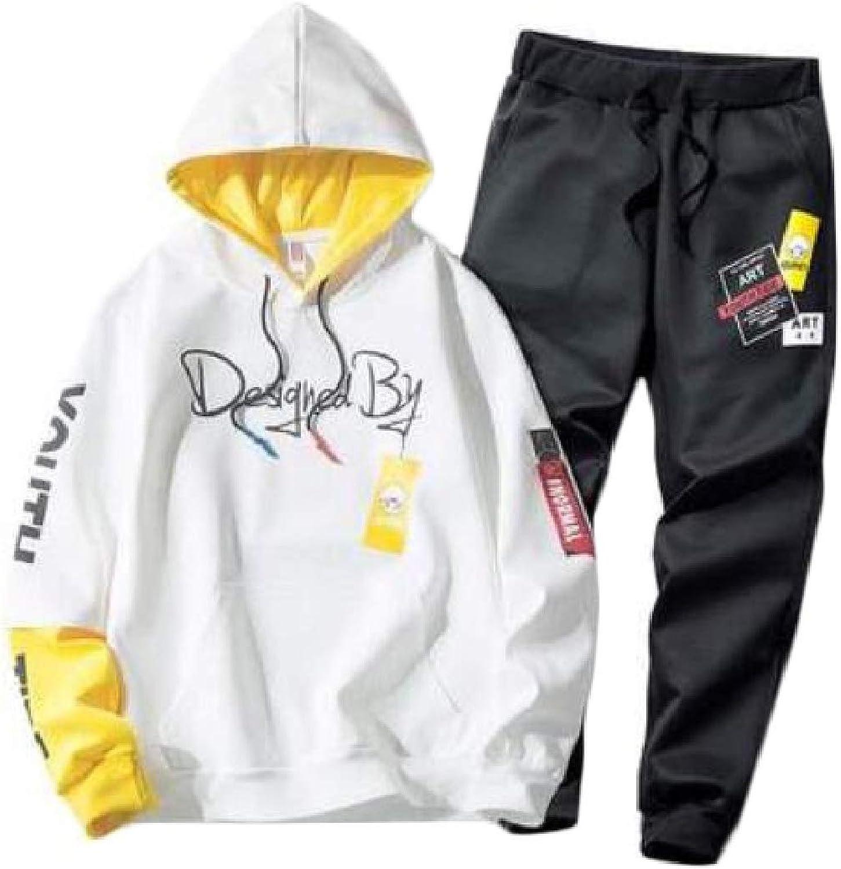9b9350795a1a FieerMen Hood Hood Hood Hip Hop Flower Print Leisure Oversize Sweatshirt  Pants Set 208377