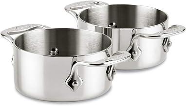 All-Clad 59914 Stainless Steel Dishwasher Safe 0.5-Quart Soup/Souffle Ramekins Cookware Set, 2-Piece, Silver