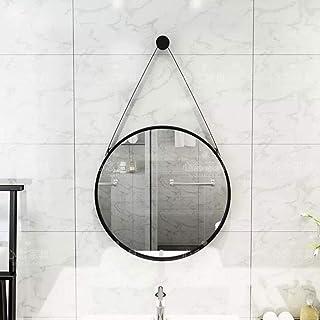 Bathroom Mirrors Wall Mirror Vanity Makeup Mirror Round Bathroom Mirrors Metal Circle Frame Large Floating Glass Bedroom Vanity Mirror Waterproof Hanging Mirror