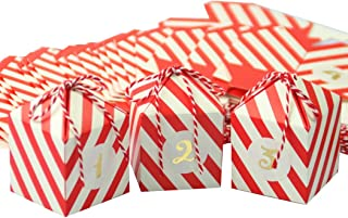COAFIT 24 Sets Candy Box DIY Party Favor Box Candy Storage Box for Christmas