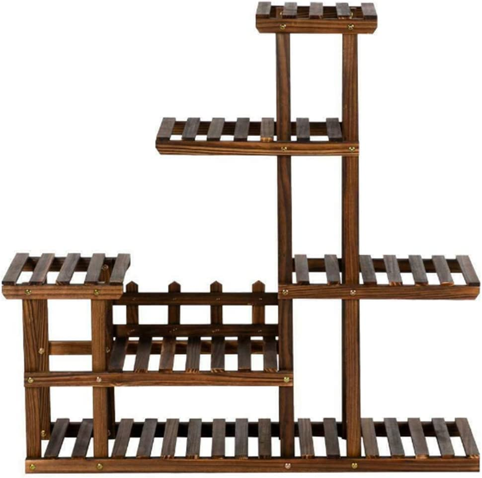 Flower San Jose Mall Pot Rack Shelf 5 Tiers Wooden Finally resale start Garden Multi Tier Plant Sta
