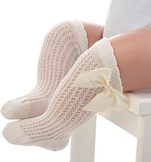 Woqook - Calcetines de bebé hasta la rodilla para niñas