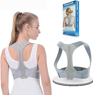 Corrector postura, FUNFREE Soporte de espalda Apoyo para mujeres Hombres Cómodo Soporte para la espalda superior Clavícula Dispositivo de apoyo para la cifosis torácica y el alivio del dolor de cuello del hombro
