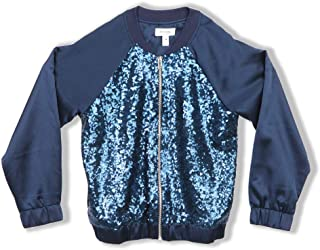 Speechless Girls' Big Sequin Front Lightweight Jacket