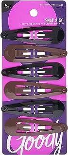Goody 1940857 Classics Contour Clip, Medium, Sandswirl ' 6 Units