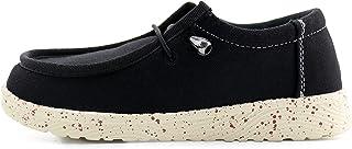 firelli Kids Canvas Loafers Boys Girls Slip On Loafers School Shoes