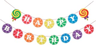 Sweet Rainbow- Birthday Banner   Happy Birthday Sign   Birthday Decorations   Photo Prop   Rainbow, Candy Shop Party   Kids party   Happy Birthday Banner   Rainbow Theme   Modern Party Decorations