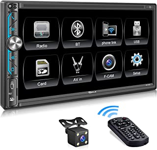 $99 » PLZ MP-902 Double Din Car Stereo ,7 Inch Full HD Capacitive Touchscreen Car Radio Receiver with Mirror Link, Bluetooth5.1,...
